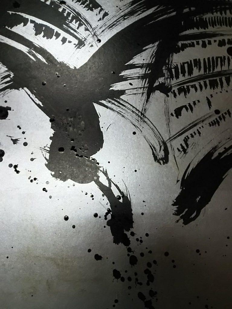 京都で屏風画の制作