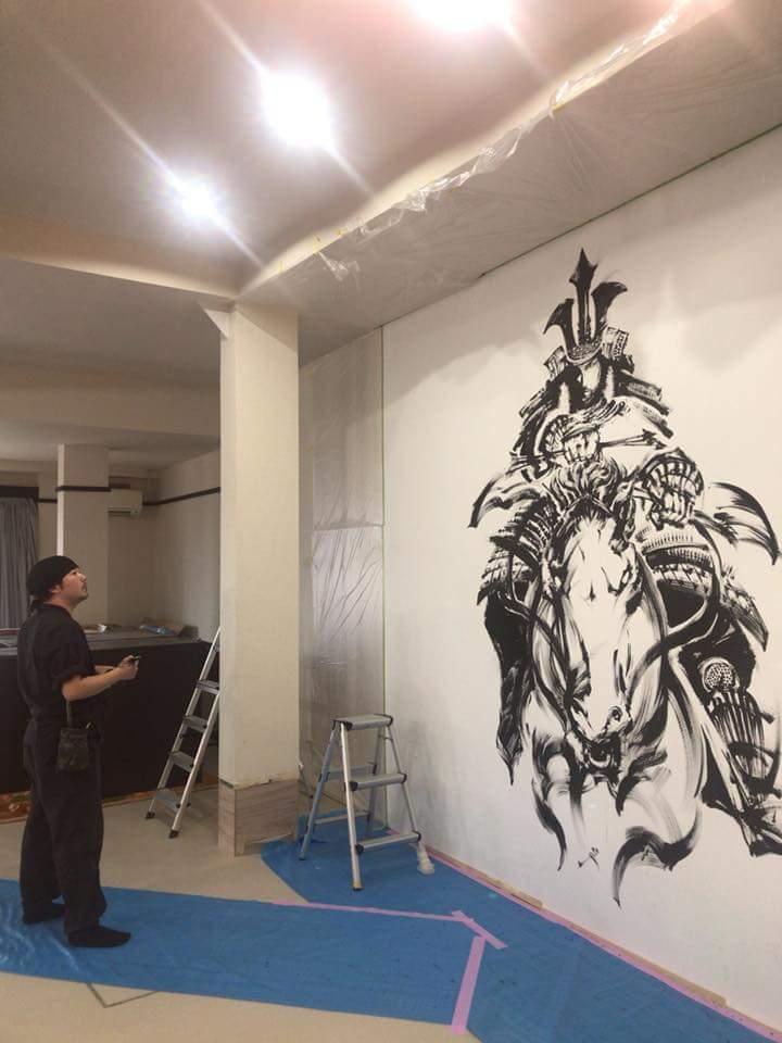 宮島劇場さんの壁画